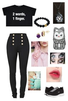 """""""Untitled #221"""" by harrypotatogirl ❤ liked on Polyvore featuring Balmain, Berluti, Lord & Taylor, claire's, Laneige and Skechers"""