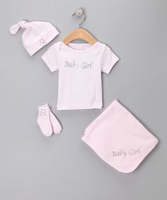Take a look at this Pink 'Baby Girl' Tee Set by Truffles Have Ruffles on #zulily today!