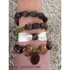 Brown & Green Geo Set by GrayCollective on Etsy, $26.00