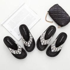New Diamond Clip Toe Wedge Heel Flip Flops Sandals Comfortable Buy Beach Slippers Online Women's Shoes Cheap-in Women's Sandals from Shoes on Aliexpress.com   Alibaba Group