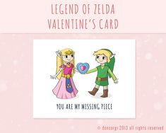 valentines day zelda card