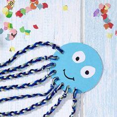 great craft idea for children - Basteln mit Kindern - Home Ocean Animal Crafts, Animal Crafts For Kids, Fun Crafts For Kids, Toddler Crafts, Preschool Crafts, Art For Kids, Arts And Crafts, Children Crafts, Panda Bear Crafts