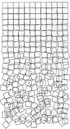 Introduction to Digital Media Art: Georg Nees Art Grunge, Computer Art, Generative Art, Gcse Art, Art Plastique, Medium Art, Textures Patterns, Design Art, Graphic Design