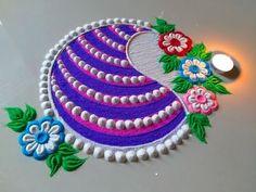 Very beautiful Ganesh chaturthi special rangoli design by DEEPIKA PANT Easy Rangoli Designs Videos, Rangoli Designs Latest, Rangoli Designs Flower, Rangoli Border Designs, Rangoli Patterns, Colorful Rangoli Designs, Rangoli Ideas, Rangoli Designs Images, Rangoli Designs Diwali
