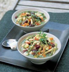 Soupe au pistou aux 2 haricots / Pistou in 2 beans soup
