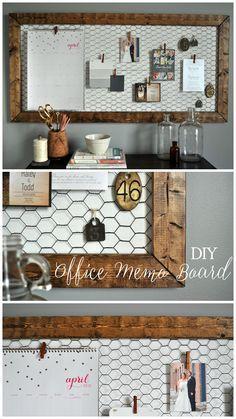 Easy DIY rustic office memo board!  www.littleglassjar.com
