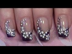 Lila Blümchen Nageldesign zum selber machen mit Nagellack / Purple Flower Nail Art Design   Easy Nail Art Tutorials