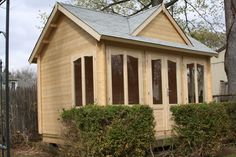 Allwood Chloe Log Cabin Kit on Sale - affordable tiny house kits, some with multiple rooms. Diy Log Cabin, Log Cabin Kits, Log Cabin Homes, Cabin Kits For Sale, Cabins For Sale, Prefab Pool House, Pool Houses, Small Prefab Cabins, Tiny House Kits