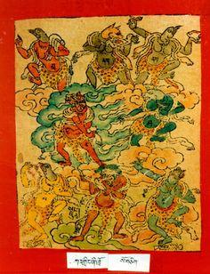 Himalayan Art: Item No. Tibetan Art, Buddhist Art, Indian Gods, Deities, Buddhism, Oriental, Central Asia, Himalayan, Karma