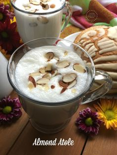 Almond atole recipe to celebrate Hispanic Heritage Month with milk. Because milk this is one of the most affordable sources of high-quality protein you can find. This beverage is perfect for breakfast and it is ready in just few minutes. A sponsored collaboration with The National Hispanic Milk Life Siempre Leche Campaign and DiMe Media. #HerenciaLeche #FuertesConLeche  AD
