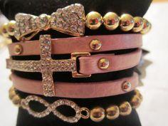 Arm Candy Set of 3 Rhinestone bow Cross wrap Infinity by BNychele, $31.95