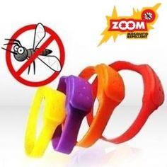 Repelentný náramok ZOOM Mosquito vás ochráni pred komármi, keď ste pod stanom, na rybách alebo len tak leňošíte v prírode. Nevhodné pre deti do 3 rokov.