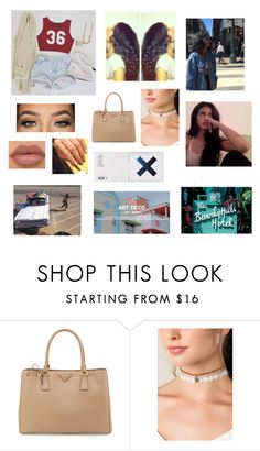 """Untitled #1591"" by darkeyesab ❤ liked on Polyvore featuring Prada, KEEP ME and LORAC"