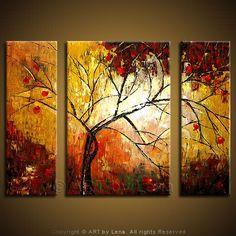 """Rain On My Window"" - Original Landscape Art by Lena Karpinsky, http://www.artbylena.com/original-painting/509/rain-on-my-window.html"