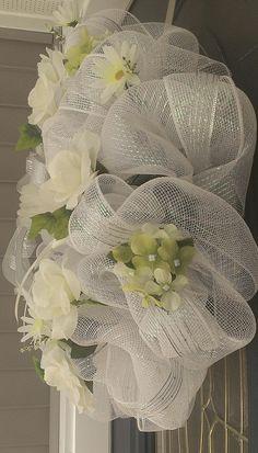 deco mesh wedding | deco, mesh, wreath, wedding, shower,