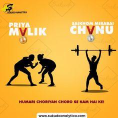 """Girls power"" We all are proud of you. ❤ @mirabai_chanu; Silver medal winner in 2021 Tokyo Olympics 49kg women's weightlifting competition. Priya Malik; Gold medal winner of 2021 World Cadet wrestling championship. . . . . #priyamalikwrestling #priyamalikgoldmedelist #weigthlifting #saikhommirabaichanu #indianplayers #olympics #olymicwinners #tokyo #tokyoolympics #tokyo2020 #olympics2020 #indianwomenweightlifting #SaikhomMirabaiChanu #sukudoanalytica"