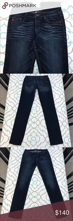 """💙👖Awesome Miss Me Jeans👖💙29 7/8 32"""" Dark Wash! 💙👖Awesome Miss Me Jeans👖💙 Size 29 (7/8). 8"""" Rise. 14.25"""" Across Back. Amazing Stretch. Gorgeous Dark Blue Wash. Heavy Fading & Whiskering. Contrasting Orange Thread Stitching. Nicole Fit. 5 Pocket Design. Low Rise. Skinny. A couple loose/missing stitches on cloth & hip. Lovely Look! Very Good Used Condition! Miss Me! The Buckle! Ask me any questions! : ) Miss Me Jeans Skinny"""