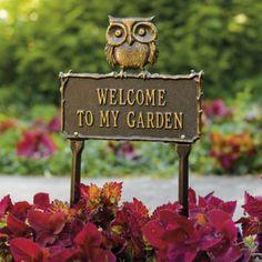 Hoot Owl Garden Plaque Pinned by www.myowlbarn.com