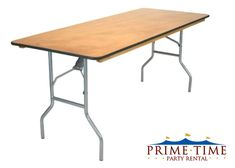 Tables :: 6 or 8 Foot Wood Banquet Tables - Prime Time Party Rental - Dayton - Cincinnati OH – Dayton Party Rentals, Dayton Tent Rentals, Wedding Accessories, Linen Rentals, Chair and Table Rentals, China and Flatware Rentals, Party Supplies, Event Rentals, Corporate Events