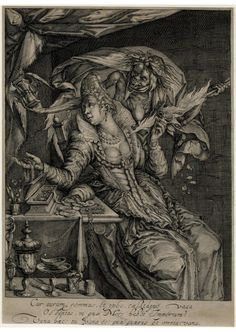 Vanitas with Death and a maiden Engraving made by Andries Jacobsz. Stock after Jacob de Gheyn II and published by Hendrik Hondius I, Dutch, 1610-1620 (circa).