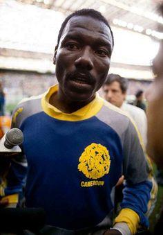 Football World Cup June 08, 1990, Argentina v Cameroon, Cameroon goalkeeper Thomas N'Kono.