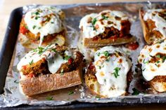 Smitten Kitchen posted these tasty Eggplant Parmesan Melts. Yum.