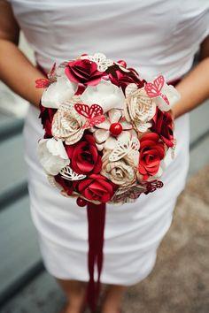 Paper machete bouquet (MINE!!!)