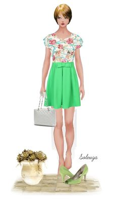 """Sem título #1205"" by soleuza ❤ liked on Polyvore featuring Adrianna Papell and Chanel"