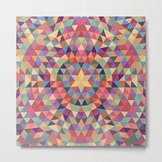 Happy Triangle Mandala Metal Print by David Zydd #MandalaMetalPrint #BestMetalPrints #Product #Mandala #Multicoloured #Printed #Multicolored #Healing (tags: sacred, gift ideas, gift idea, interior design, mandala decoration, colorful, home decor, wall design, art print, art, sacred geometry, home, mandala home decor, mandala, decorating, mandala art, decor, gift design, decoration) Art Prints For Sale, Framed Art Prints, Canvas Prints, Wall Decor, Wall Art, Room Decor, Types Of Art, Mandala Art, Bohemian Decor