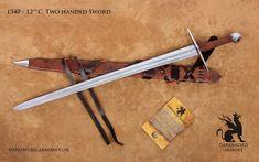 The 12th Century Templar Sword 1340 by DarkswordArmory on Etsy