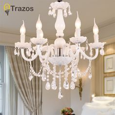 European Style White Crystal Chandeliers Modern LED Chandeliers For Living Room lustres de sala de cristal Wedding decoration - ICON2 Luxury Designer Fixures  European #Style #White #Crystal #Chandeliers #Modern #LED #Chandeliers #For #Living #Room #lustres #de #sala #de #cristal #Wedding #decoration