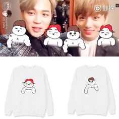 Everyday is a KPOP day... check this out: BTS Jimin Jungkoo... It's selling fast! http://thekdom.com/products/bts-jimin-jungkook-art-sweater?utm_campaign=social_autopilot&utm_source=pin&utm_medium=pin