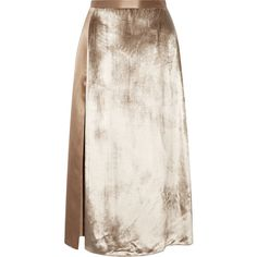 Michelle Mason Velvet-paneled silk-satin midi skirt (£340) ❤ liked on Polyvore featuring skirts, bottoms, mushroom, pink velvet skirt, midi skirt, mid calf skirts, calf length skirts and pink skirt