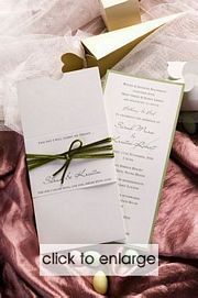 """Sarah"" Invitation house, Australia Love the green ribbon #weddinginvites #greenwedding #letsdoit"