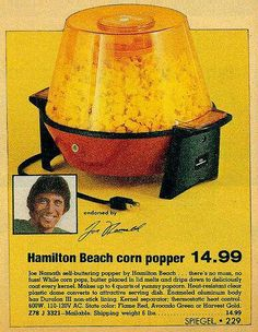 My parents would make popcorn to eat as they watched Sunday afternoon sports.