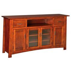 Craftsmen TV Entertainment with 4 Door Credenza | Peaceful Valley Furniture.