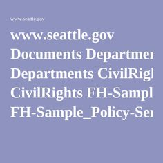 www.seattle.gov Documents Departments CivilRights FH-Sample_Policy-Service_Animals.pdf