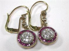Art Deco Ruby Earrings LOVE this beauties!