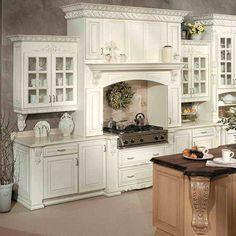 Victorian Kitchen Design Ideas Classical- Perfect Kitchen!! Love the cabinets!