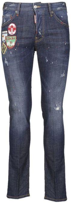 DSQUARED2 Patch Appliqué Distressed Jeans