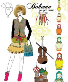"""Sophie Leblanc ILLUSTRATION  client:   MILAN EDITIONS  book """"My Book of trends"""""""