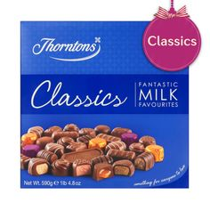 Thorntons Classics - Milk Chocolate Dreams, Chocolate Delight, Chocolate Toffee, I Love Chocolate, Thorntons Hamper, Thorntons Chocolate, Chocolate Hampers, Selection Boxes, Christmas Hamper