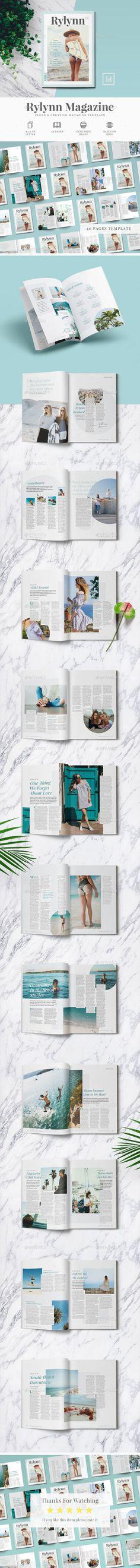 Creative Magazine Layout Tempate Design