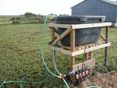 Bucket watering system on a timer