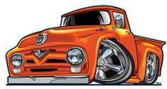 Another Chevy truck Hot Rod Trucks, Old Trucks, Pickup Trucks, Hot Wheels, Car Illustration, Illustrations, Weird Cars, Cool Cars, F100