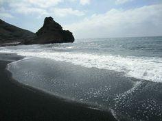 Black Beach. Lanzarote. Spain.