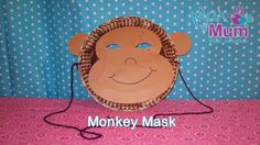 Paper Plate Monkey Mask - How to Make a Monkey Mask