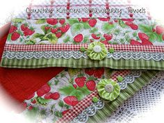 A set of strawberry kitchen towels. | Flickr - Photo Sharing!