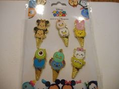 #disney Tsum Tsum HKDL Ice Cream Cones 2016 Booster Set Lot Of 6 Disney Pins ***NEW*** please retweet
