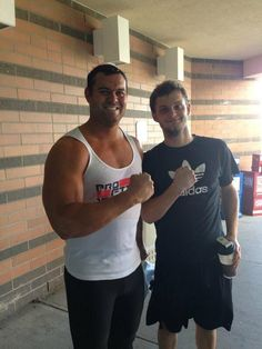 David Hart Smith, son of Davey Boy Smith, & David Benoit, the son of Chris Benoit. Reportedly, Benoit began training for a career in professional wrestling in 2013.